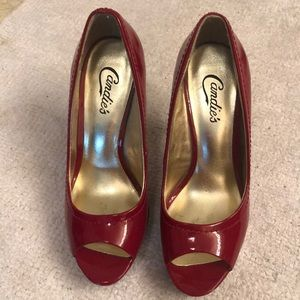High heel red shoes - never worn